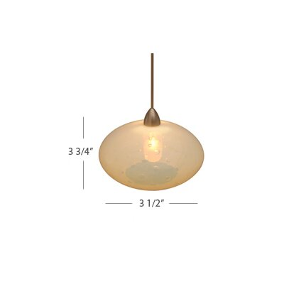 WAC Lighting Lavai Art Decorative Glass Pendant with Opaline Shade