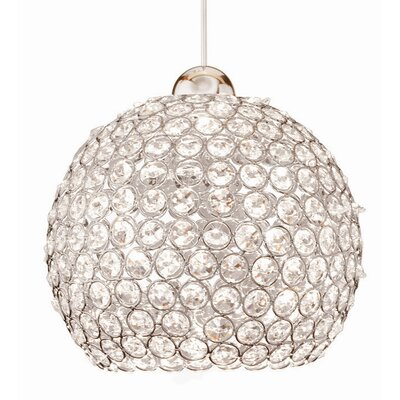 WAC Lighting Crystal Roxy Quick Connect 1 Light Pendant