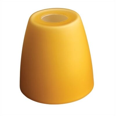 WAC Deep Bell Glass Shade for Monorail Quick Connect Fixtures in Amber