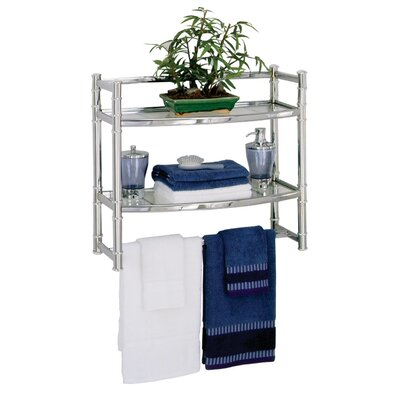 Zenith Wall Shelf in Chrome