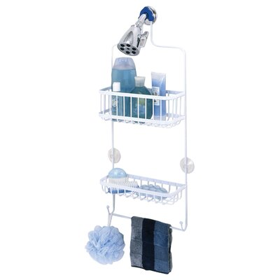 "Zenith Products 25.75"" Shower Caddy in White"