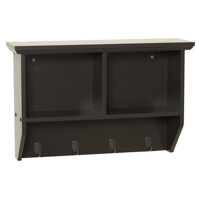 Zenith Products Wall Shelf with Hooks