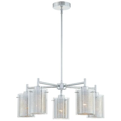 George Kovacs by Minka Grid II 5 Light Chandelier