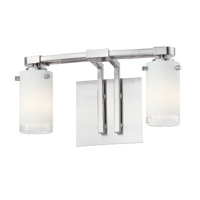 George Kovacs by Minka Street Light Two Light Bath Vanity in Brushed Nickel