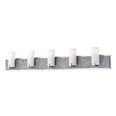 George Kovacs Lava Tube 5 Light Bath Vanity Light