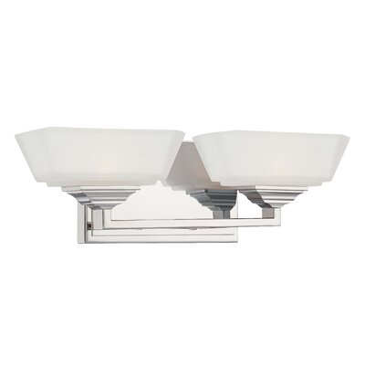 George Kovacs by Minka Clean Two Light Bath Vanity in Polished Nickel