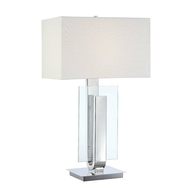 George Kovacs by Minka One Light Table Lamp with Eidolon Krystal Base in Chrome