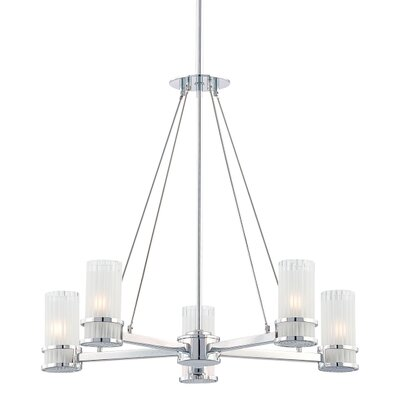 George Kovacs by Minka Rings 5 Light Chandelier