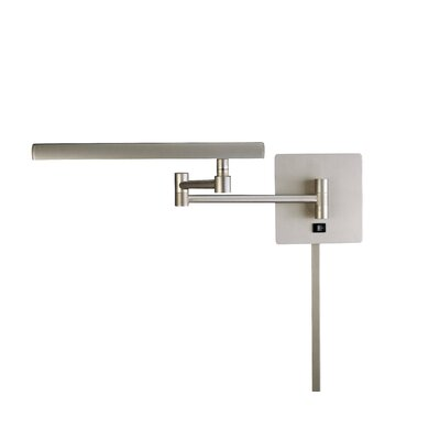 George Kovacs by Minka Madake Swing Arm Wall Lamp in Matte Brushed Nickel