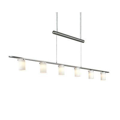 George Kovacs Cylindrical Counter Weight Chandelier in Brushed Nickel