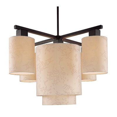 George Kovacs by Minka Kimono 5 Light Chandelier