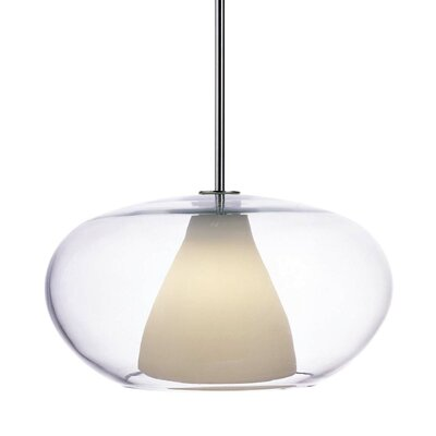 George Kovacs Soft Pendant with Clear/White Frosted Glass