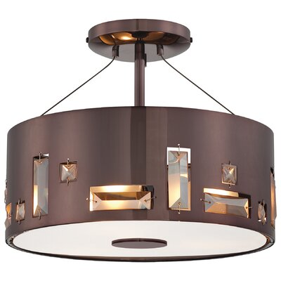 George Kovacs by Minka Bling Bang 3 Light Semi Flush Mount