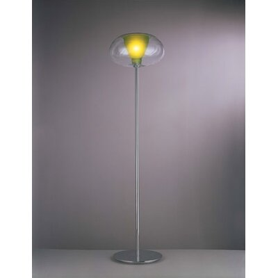George Kovacs by Minka Soft Floor Lamp with Glass Shade