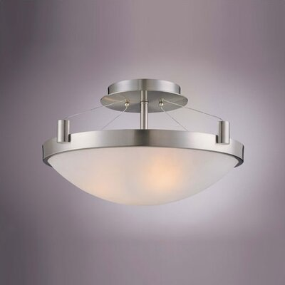 George Kovacs by Minka 3 Lights Semi Flush Mount