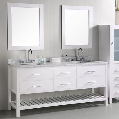 "Design Element London 72"" Double Sink Vanity Set"