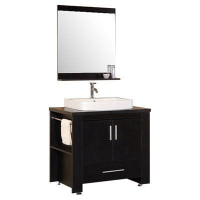 "Design Element Washington 36"" Modern Bathroom Vanity Set"
