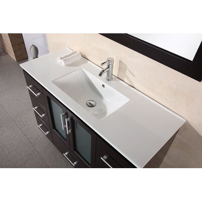 "Design Element Milan Stanton 48"" Modern Vanity with Drop in Sink"
