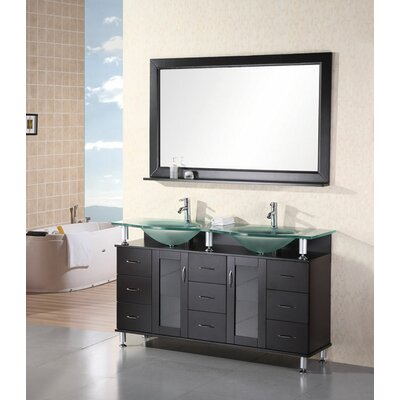 "Design Element Redondo 61"" Double Sink Vanity Set"