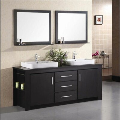 "Design Element Washington 72"" Double Sink Vanity Set"