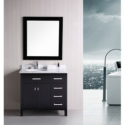"Design Element London 36"" Modern Bathroom Vanity Set"
