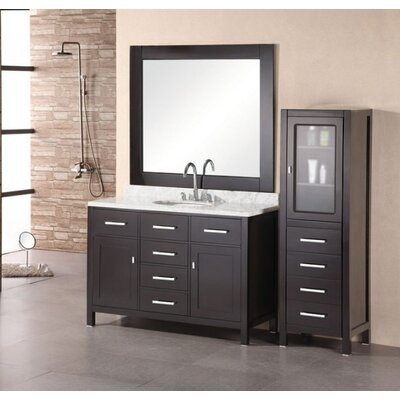 "Design Element London 48"" Single Bathroom Vanity with Opitonal Four Drawer Cabinet"