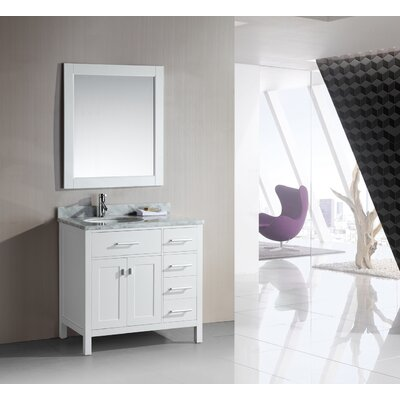 "Design Element London 36"" Single Sink Vanity Set"
