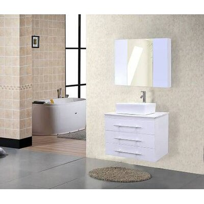 "Design Element Elton 30"" Wall Mount Bathroom Vanity Set"