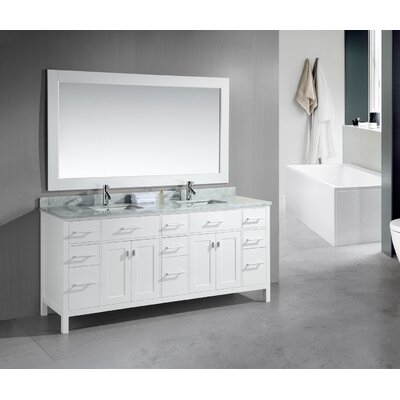 "Design Element London 78"" Modern Double Bathroom Vanity Set"