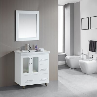 "Design Element Milan Stanton 32"" Modern Vanity Set"