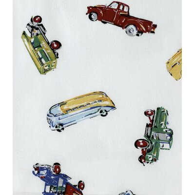 Traditions Linens Car Shop Cotton Shower Curtain