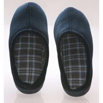 Deluxe Comfort Vamp with Checked Lining Male Slippers