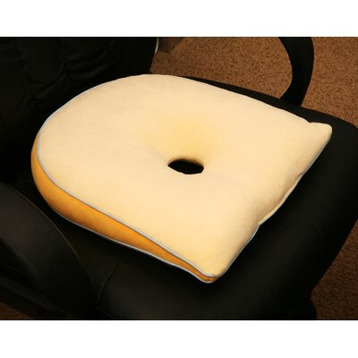 Deluxe Comfort Memory Foam Tilted Cushion in Yellow