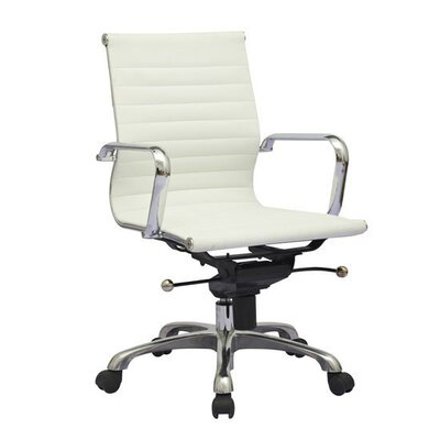 Aosom LLC Mid-Back Leather Synthetic Office Chair