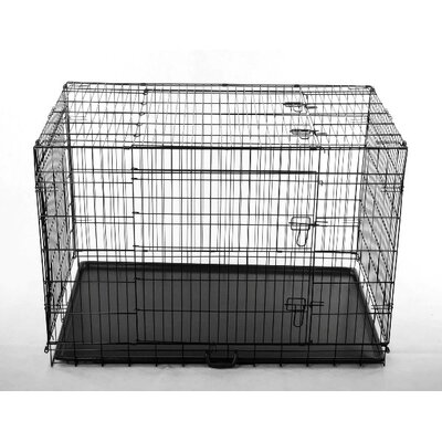 Aosom LLC 2 Door Folding Pet Crate