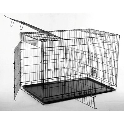 "Aosom LLC 36"" 2 Door Folding Pet Cage"