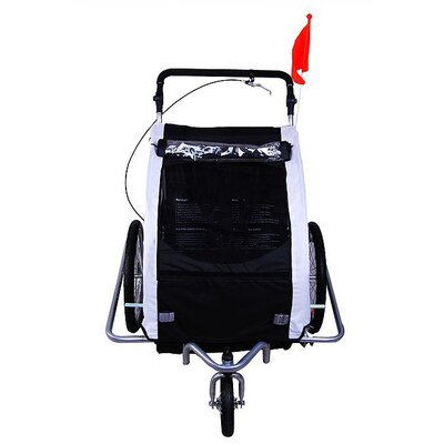 Aosom LLC Elite II 2 in 1 Double Baby Bike Trailer