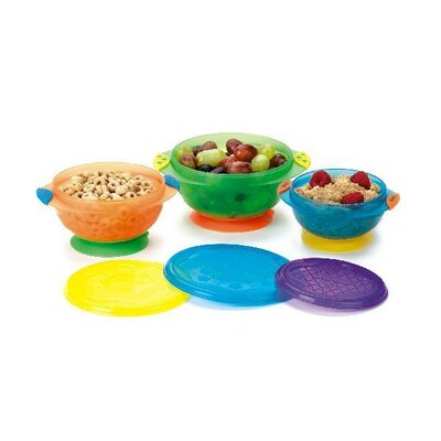 Munchkin Stay-Put Suction Bowl (Set of 3)