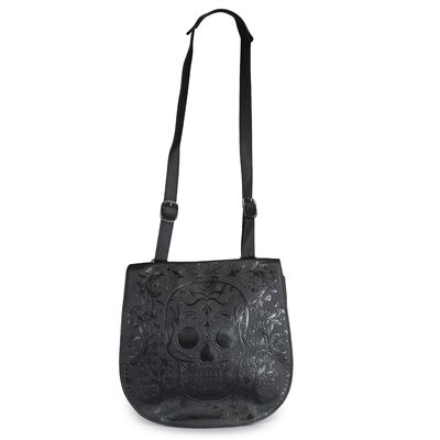 Skull Embossed Cross Body Bag