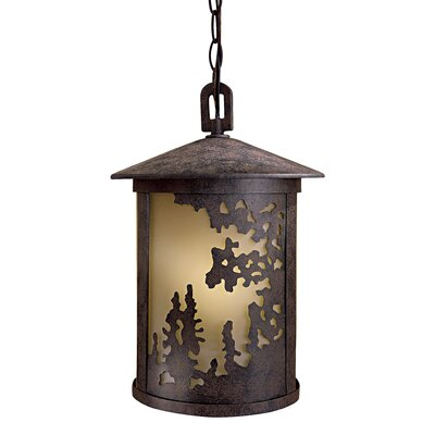 Great Outdoors by Minka Sunset Ranch 1 Light Outdoor Hanging Lantern