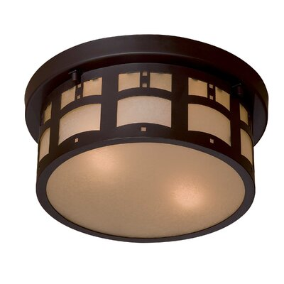 Great Outdoors by Minka Harveston Manor 2 Light Outdoor Flush Mount