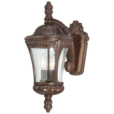 Great Outdoors by Minka Kent Place 3 Light Outdoor Wall Lantern