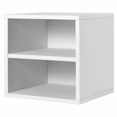 Modular Storage Cube with Shelf in White
