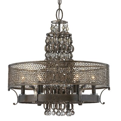 Metropolitan by Minka Ajourer 6 Light Chandelier