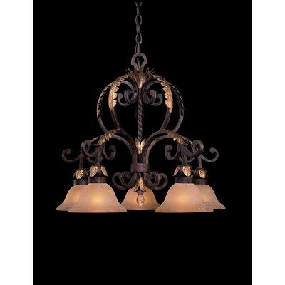 Zaragoza Chandelier in Golden Bronze