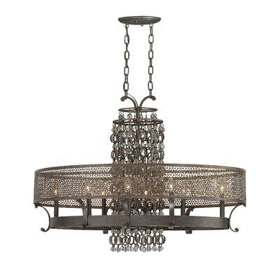Metropolitan by Minka Ajourer 8 Light Oval Chandelier