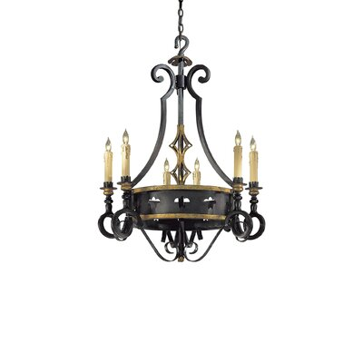 Metropolitan by Minka Montparnasse 6 Light Chandelier