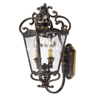 Metropolitan by Minka Terraza Villa 2 Light Outdoor Wall Lantern