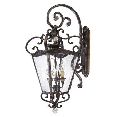 Metropolitan by Minka Terraza Villa 3 Light Wall Lantern