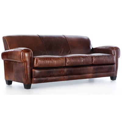 Hokku Designs Havana Paris Grain Leather Sofa
